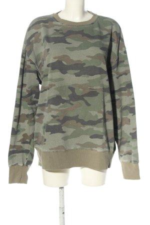 """H&M Sweatshirt """"von Micha Ø."""" khaki"""
