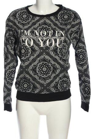 H&M Sweatshirt schwarz-weiß Mustermix Casual-Look