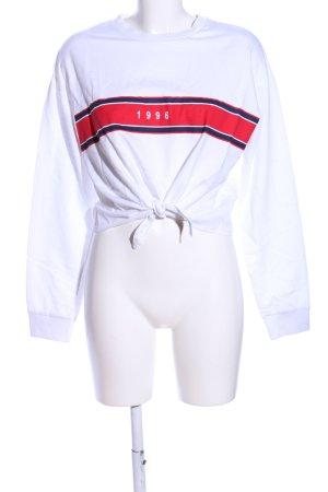 H&M Sweatshirt Streifenmuster Casual-Look
