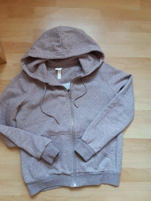 H&M Sweatshirt Sweatjacke Hoodie Damen Gr. S mauve altrosa