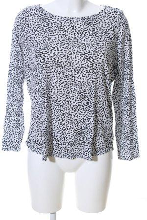 H&M Sweatshirt weiß-schwarz abstraktes Muster Casual-Look