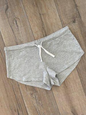 H&M Sweatshorts Shorts grau meliert Gr. S