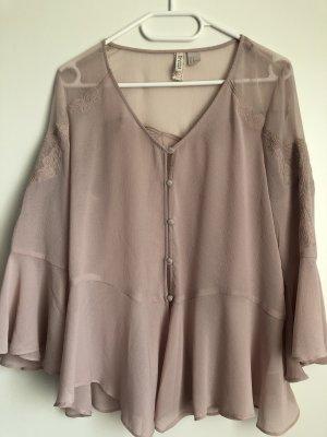 H&M Swing Bluse rosa transparent S/36