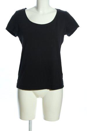 H&M T-shirt czarny W stylu casual