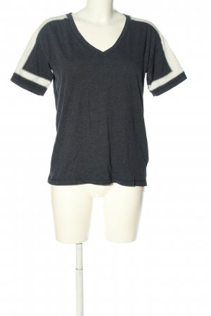 H&M T-Shirt hellgrau-weiß meliert Casual-Look