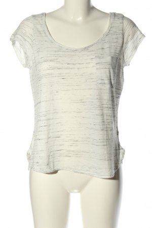 H&M T-Shirt weiß-hellgrau Casual-Look