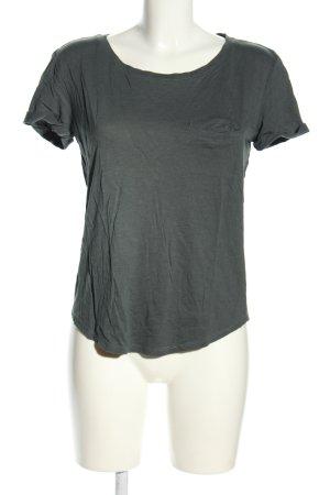 H&M T-Shirt hellgrau-khaki meliert Casual-Look