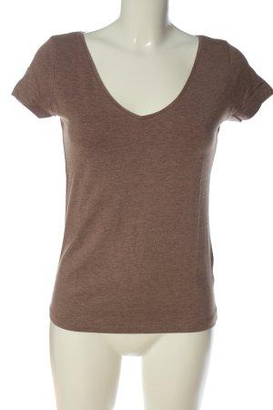 H&M T-Shirt braun meliert Casual-Look