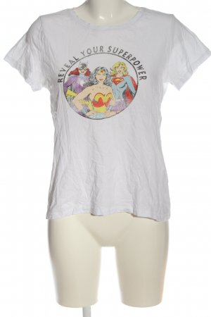 H&M T-Shirt weiß Motivdruck Casual-Look