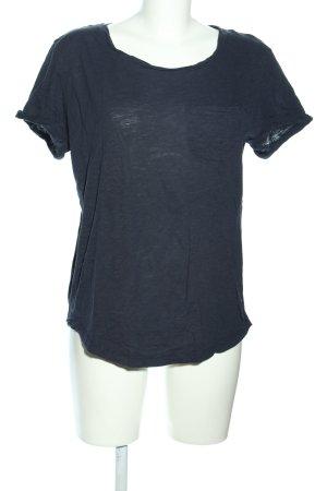 H&M T-Shirt blau Casual-Look