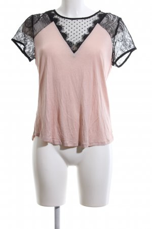 H&M T-Shirt pink-schwarz Casual-Look
