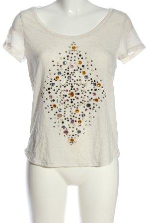 H&M T-Shirt creme Motivdruck Casual-Look