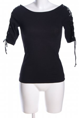 H&M T-Shirt schwarz Casual-Look