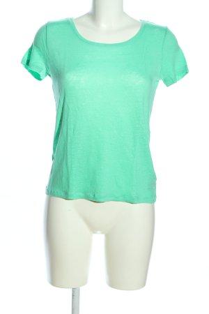 H&M T-Shirt grün Casual-Look