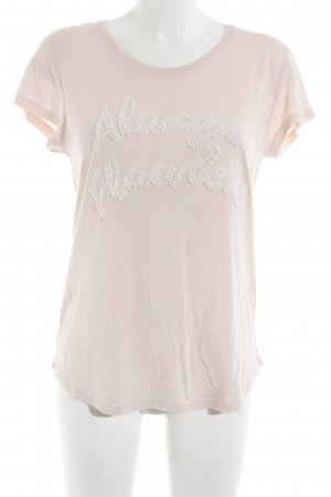 H&M T-Shirt apricot-weiß Casual-Look