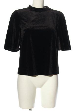 H&M T-shirt czarny W stylu biznesowym