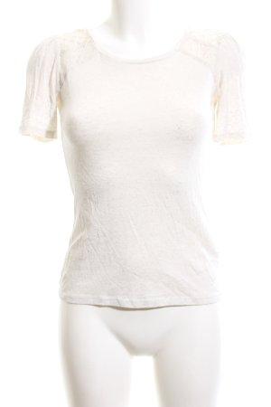 H&M T-Shirt wollweiß meliert Casual-Look