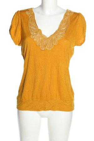 H&M T-Shirt blassgelb Casual-Look