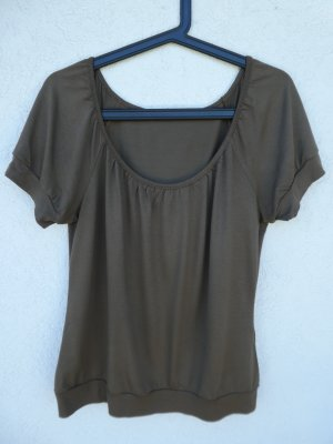 H&M  – T-Shirt, braun - Gebraucht, fast wie neu