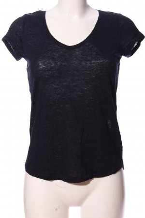 H&M T-Shirt schwarz meliert Casual-Look