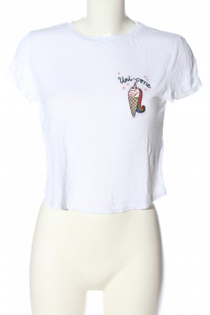 H&M T-Shirt Schriftzug gestickt Casual-Look
