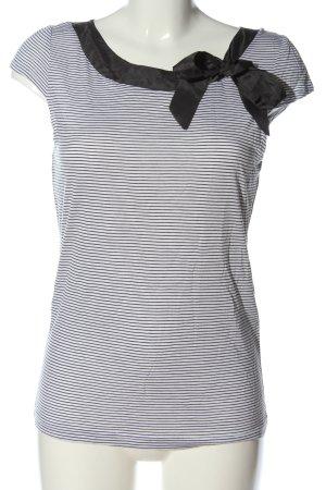H&M Camiseta blanco-negro estampado a rayas look casual