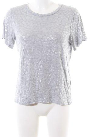 H&M T-Shirt hellgrau-silberfarben meliert Casual-Look