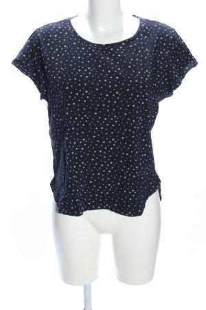 H&M T-Shirt blau-weiß Allover-Druck Casual-Look