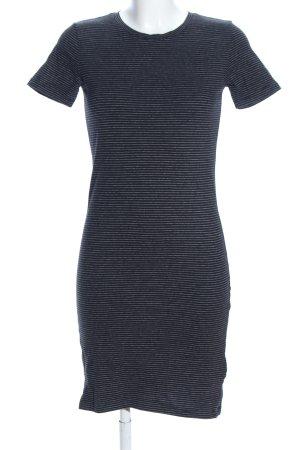 H&M T-Shirt schwarz-hellgrau Streifenmuster Casual-Look