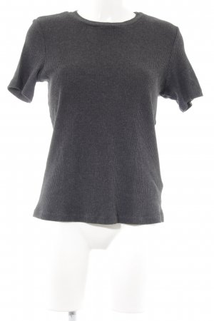 H&M T-Shirt dunkelgrau Casual-Look