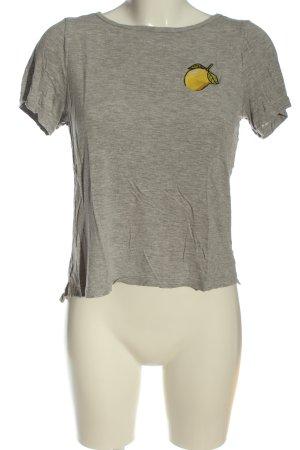 H&M T-Shirt silberfarben meliert Casual-Look
