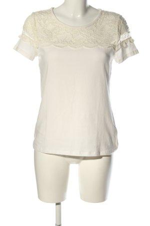 H&M T-Shirt weiß-wollweiß Casual-Look