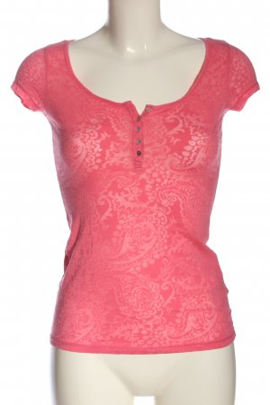 H&M T-Shirt pink Allover-Druck Casual-Look