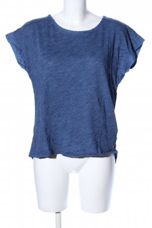 H&M T-Shirt blau meliert Casual-Look