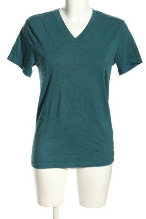 H&M T-Shirt blau meliert Casual-Look