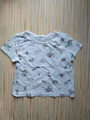 H&M T-Shirt gecropped weiß