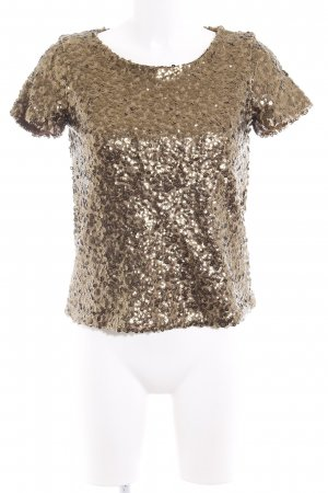 H&M T-Shirt goldfarben Party-Look