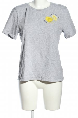H&M T-Shirt hellgrau-blassgelb meliert Casual-Look
