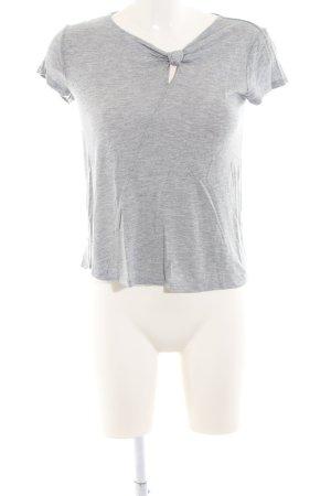 H&M T-Shirt hellgrau meliert Casual-Look