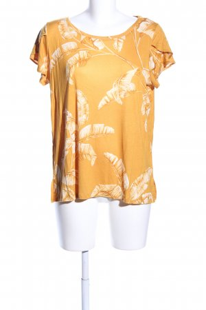 H&M T-Shirt hellorange-weiß Blumenmuster Casual-Look