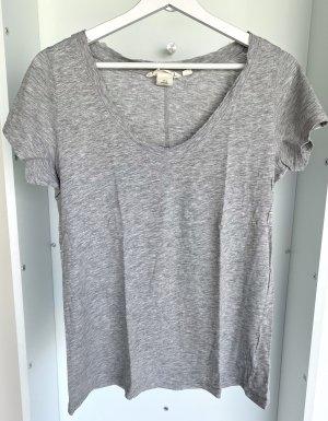 H&M - T-Shirt in Hellgrau (ungetragen)