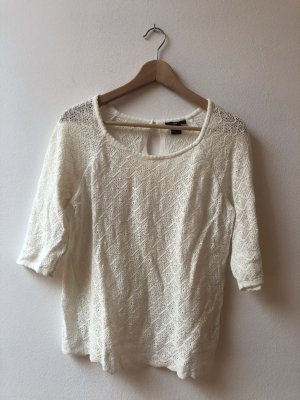 H&M T-Shirt in Spitzenoptik