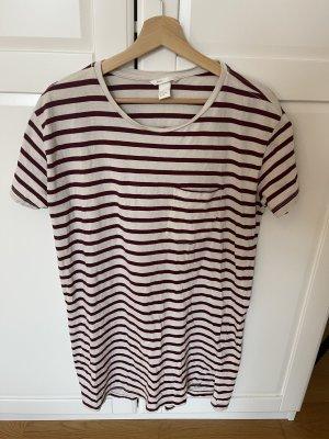 H&M T-Shirt Kleid gestreift
