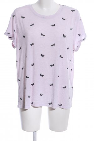 H&M T-Shirt lilac-black casual look