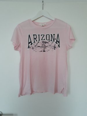 H&M T-Shirt Print rosa Gr.XS