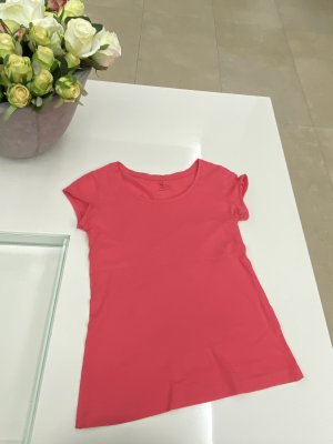 H&M t-shirt Shirt Oberteil in xS / 34 rot rosa lachsfarben