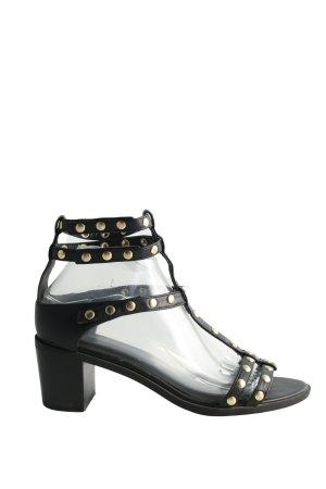H&M T-Steg-Sandaletten schwarz extravaganter Stil