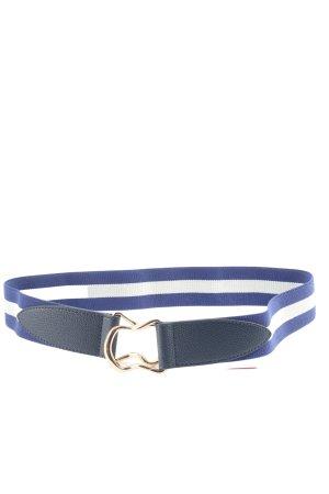 H&M Waist Belt blue-white striped pattern casual look