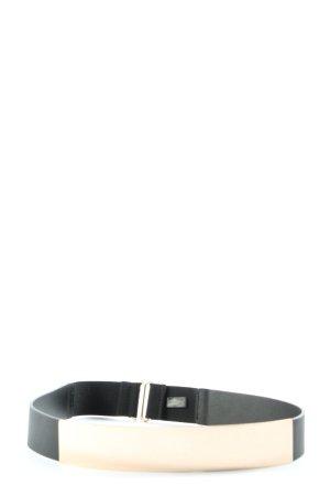 H&M Taillengürtel schwarz-goldfarben Casual-Look