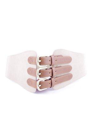 H&M Cintura vita crema-marrone stile casual